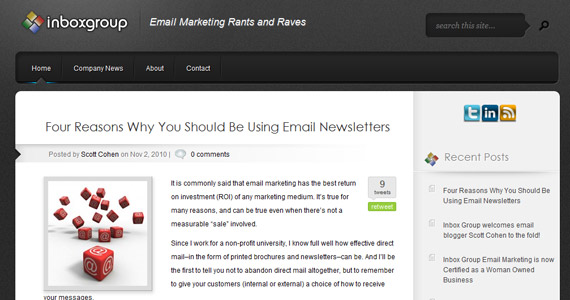 Email Marketing : Four Reasons Why You Should Be Using Email Newsletters
