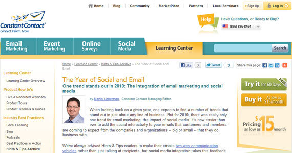 Email Marketing : The Year of Social and Email