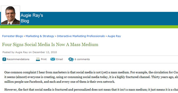 Four Signs Social Media Is Now A Mass Medium