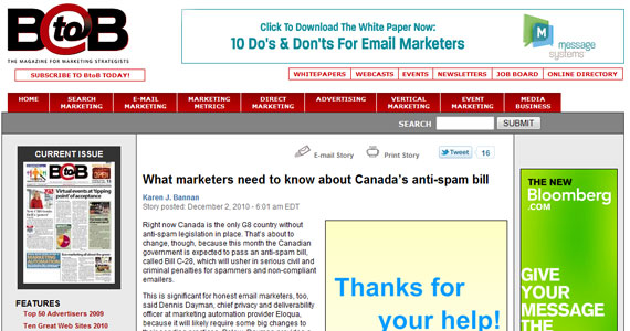 Email Marketing : What marketers need to know about Canada's anti-spam bill