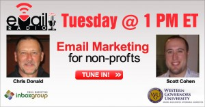 eMail Radio Tuesday December 14th @ 1PM Email Marketing for non-profits