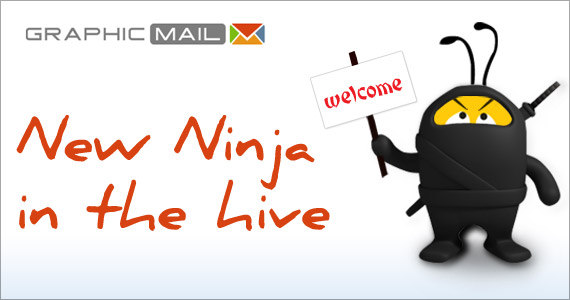 A new email marketing Ninja in the hive: GraphicMail!