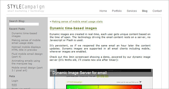 Style Campaign - Dynamic time-based images