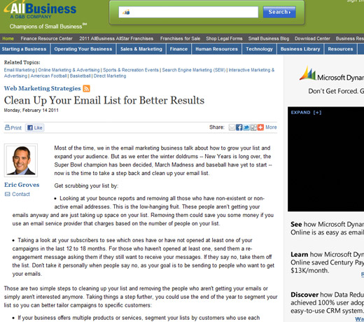 AllBusiness - Clean Up Your Email List for Better Results