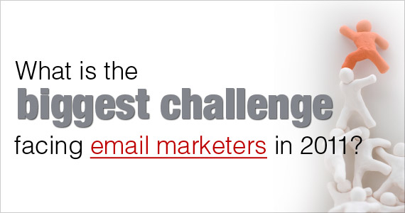 What is the biggest challenge facing email marketers in 2011?