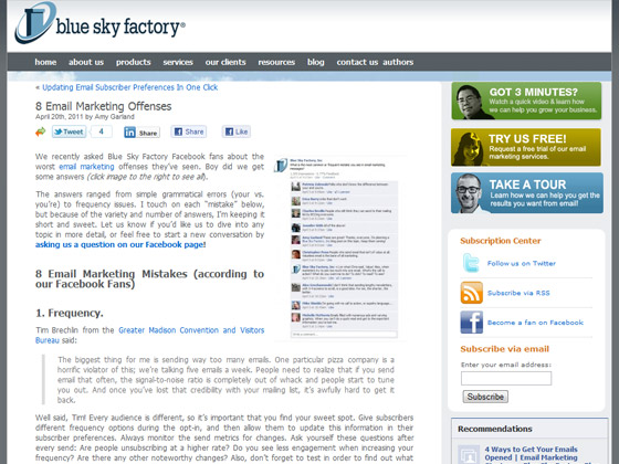 Blue Sky Factory - 8 Email Marketing Offenses