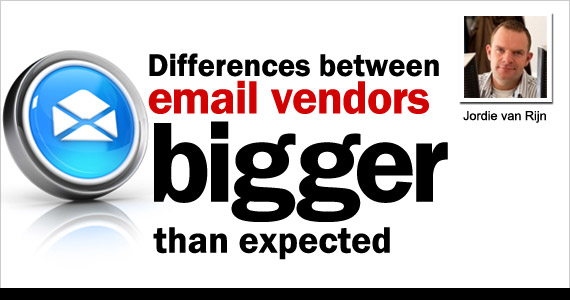 Differences between email vendors bigger than expected