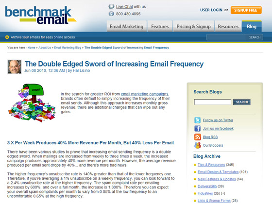 Benchmark Email - The Double Edged Sword of Increasing Email Frequency