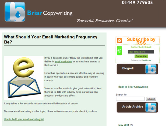 Briar Copywriting - What Should Your Email Marketing Frequency Be?