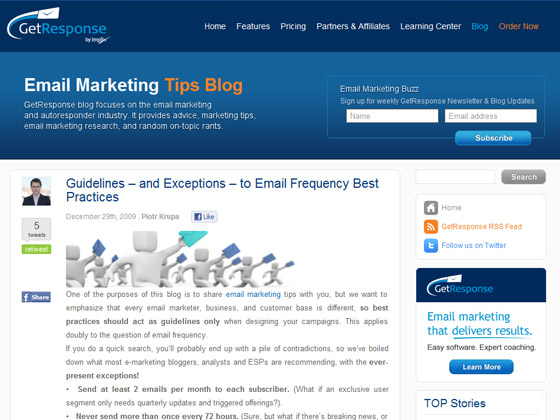 GetResponse - Guidelines – and Exceptions – to Email Frequency Best Practices