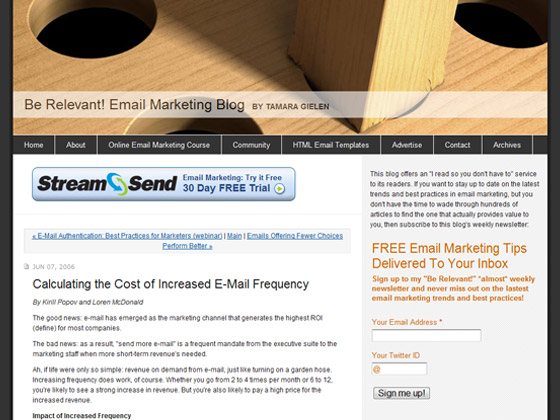 B2B Email Marketing - Calculating the Cost of Increased E-Mail Frequency