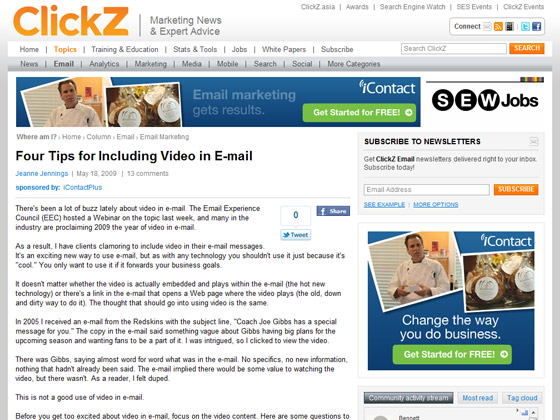 Four Tips for Including Video in E-mail