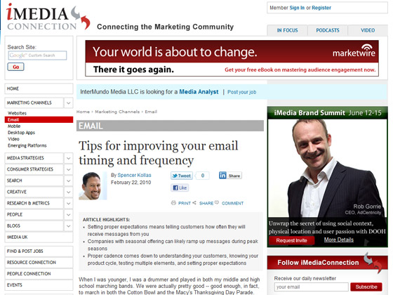 iMedia Connection - Tips for improving your email timing and frequency
