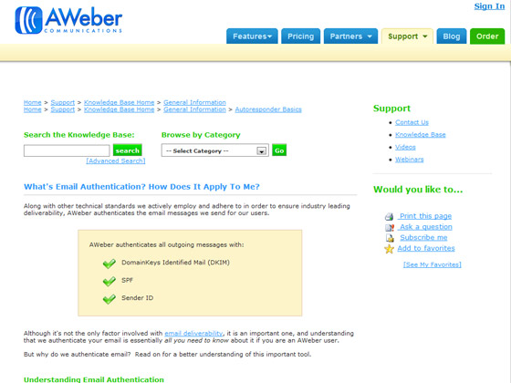 AWeber - What's Email Authentication? How Does It Apply To Me?
