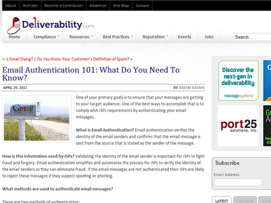 Deliverability - Email Authentication 101: What Do You Need To Know?
