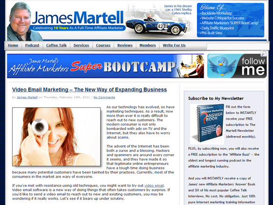 James Martell - Video Email Marketing – The New Way of Expanding Business