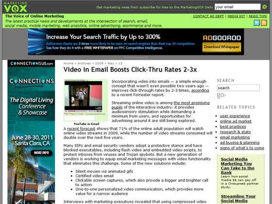 Marketing Vox - Video in Email Boosts Click-Thru Rates 2-3x