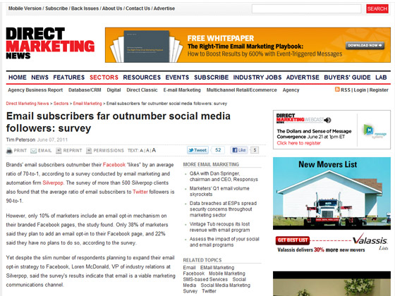 Email subscribers far outnumber social media followers: survey