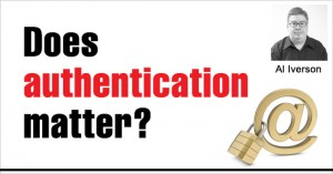 Does authentication matter?