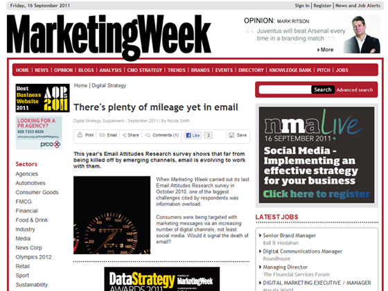 Marketing Week -There's plenty of mileage yet in email