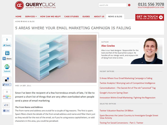 QueryClick - 5 AREAS WHERE YOUR EMAIL MARKETING CAMPAIGN IS FAILING