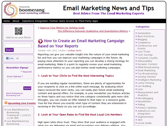 Boomerang - How to Create an Email Marketing Campaign Based on Your Reports
