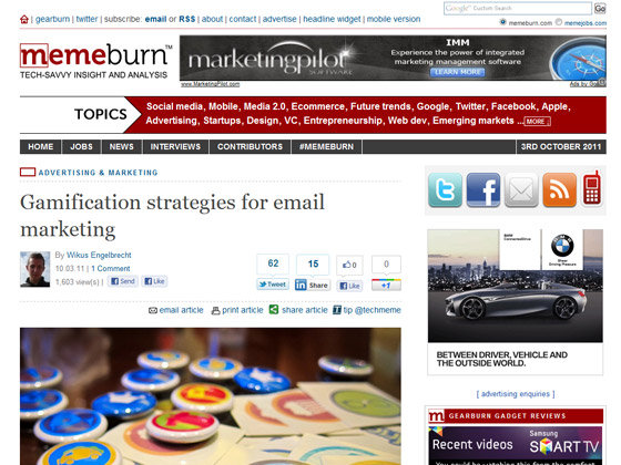 memeburn - Gamification strategies for email marketing