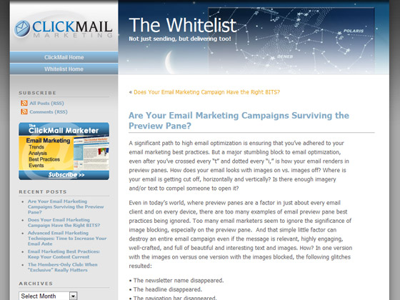 ClickMail - Are Your Email Marketing Campaigns Surviving the Preview Pane?