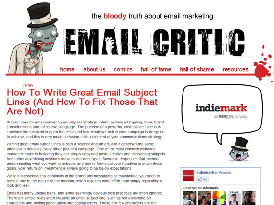 Email Critic -How To Write Great Email Subject Lines (And How To Fix Those That Are Not)