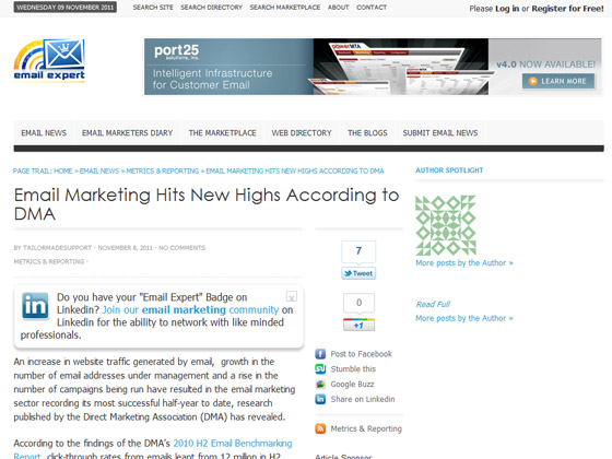 Email Expert - Email Marketing Hits New Highs According to DMA
