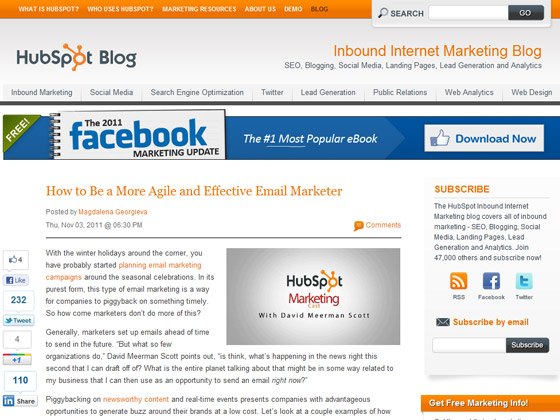 HubSpot- How to Be a More Agile and Effective Email Marketer
