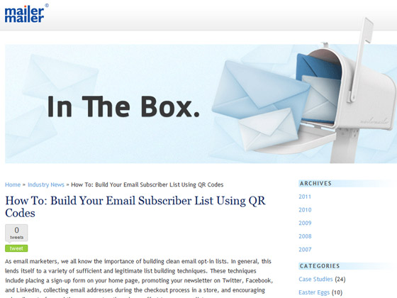 MailerMailer - How To: Build Your Email Subscriber List Using QR Codes