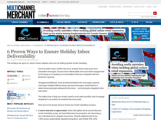 Multichannel - 6 Proven Ways to Ensure Holiday Inbox Deliverability