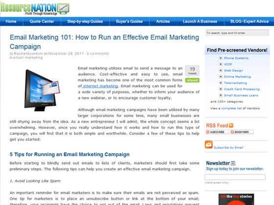 ResourceNation - Email Marketing 101: How to Run an Effective Email Marketing Campaign