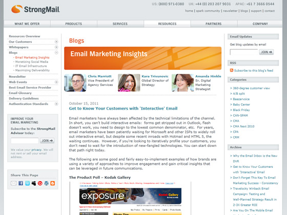 StrongMail - Get to Know Your Customers with 'Interactive' Email