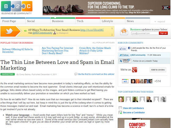 B2C - The Thin Line Between Love and Spam in Email Marketing