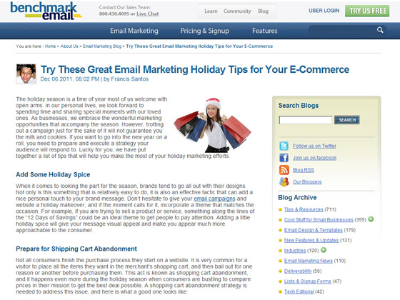 Benchmark Email - Try These Great Email Marketing Holiday Tips for Your E-Commerce