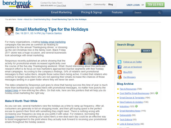 Benchmark Email - Email Marketing Tips for the Holidays