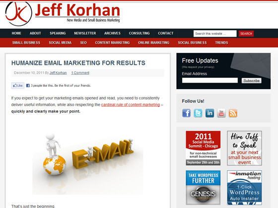 Jeff Korhan - Humanize email marketing for results
