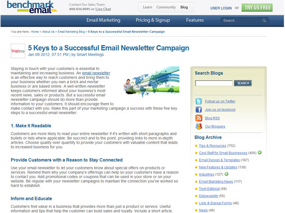 Benchmark Email - 5 Keys to a Successful Email Newsletter Campaign