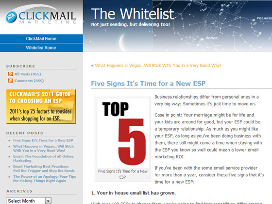 ClickMail - Five Signs It's Time for a New ESP