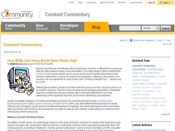 ConstantContact - How B2Bs Can Keep Email Open Rates High