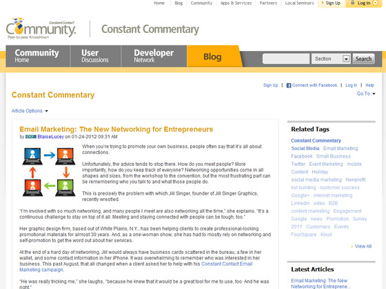 ConstantContact - Email Marketing: The New Networking for Entrepreneurs