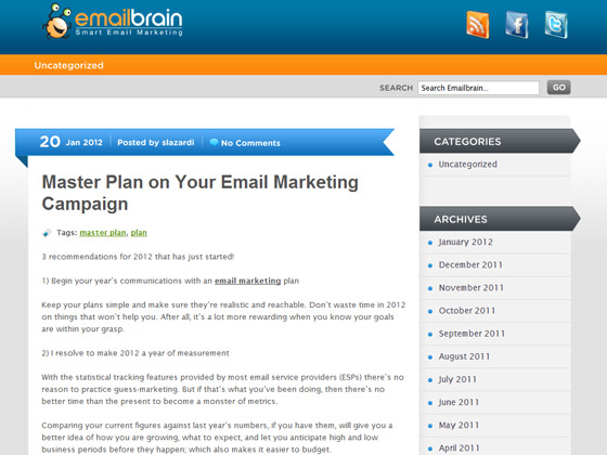 EmailBrain - Master Plan on Your Email Marketing Campaign