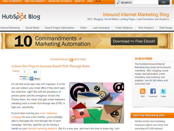 HubSpot - 11 Sure-Fire Ways to Increase Email Click-Through Rates