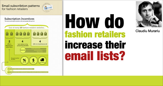 How do fashion retailers increase their email lists? by Claudiu Murariu @padicode
