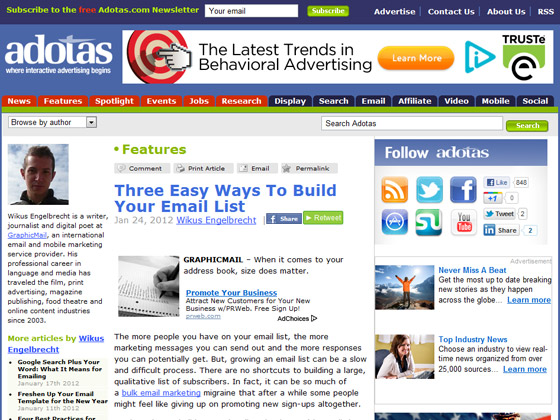 adotas - Three Easy Ways To Build Your Email List