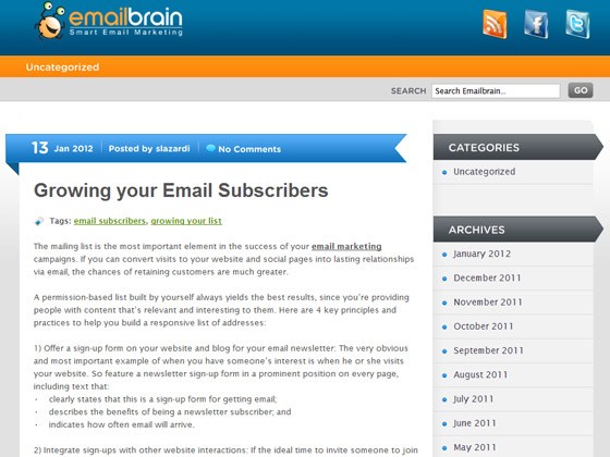 emailbrain - Growing your Email Subscribers