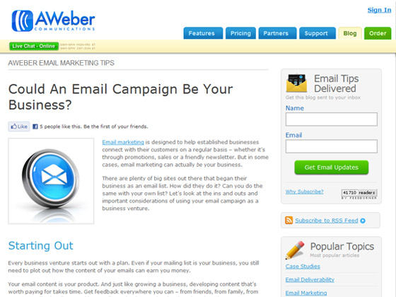 AWeber - Could An Email Campaign Be Your Business?
