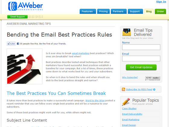 AWeber - Bending the Email Best Practices Rules